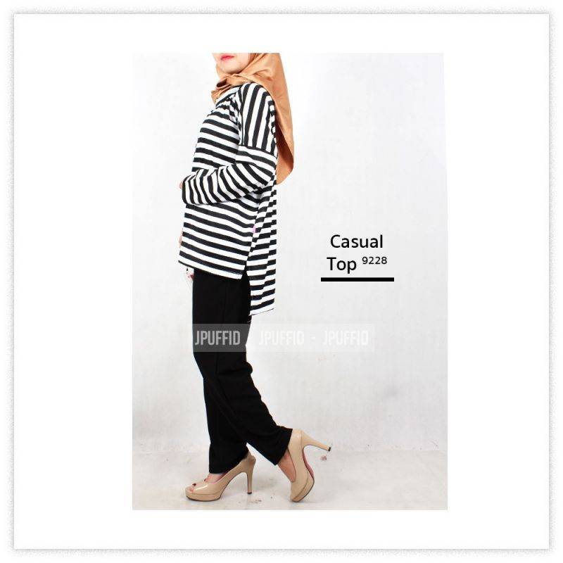 Stipe Tops | Atasan Garis 9228