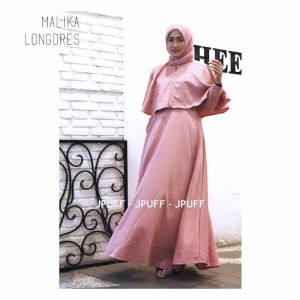 Malika Cape Long Dress | Gamis Modern | Maxi Dress