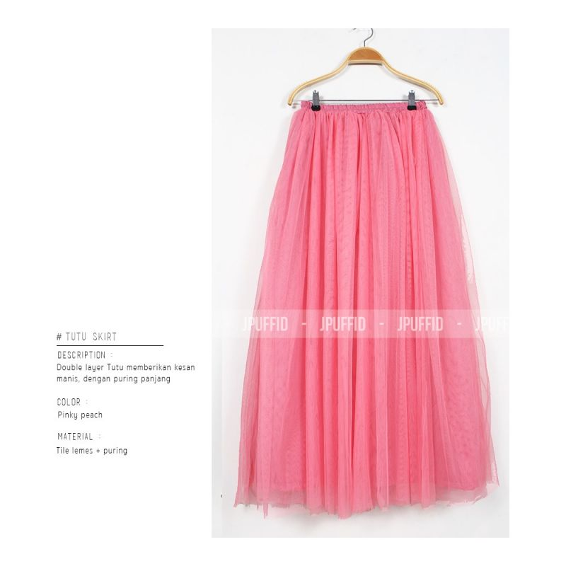 Rok Tutu 2 Lapis Tile Lemes | Tutu Skirt 2 Layer