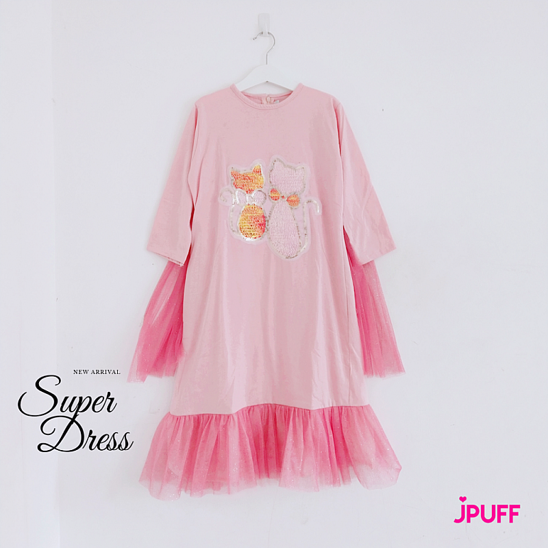SuperDress Tutu Princess - Salmon/Pink Cat