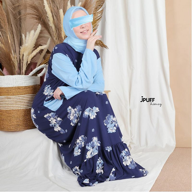 HomeyDress Series #1 - Farah Dress (Tgn pjg - kombinasi tangan)