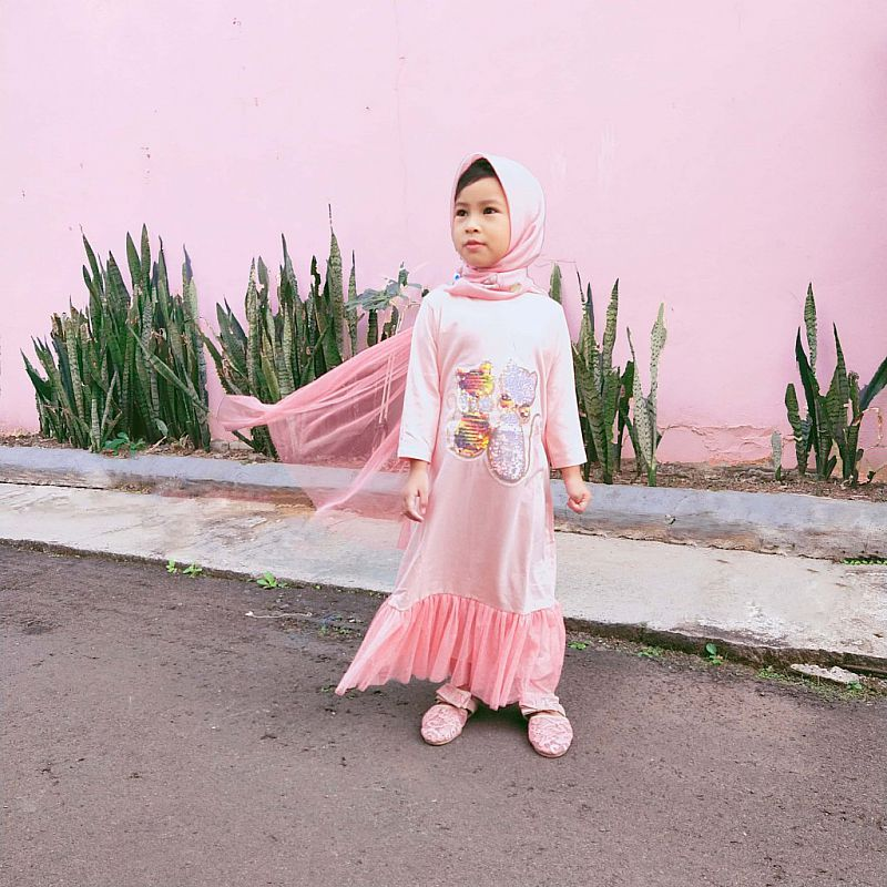 SuperDress Tutu Princess - Salmon Cat Siluet