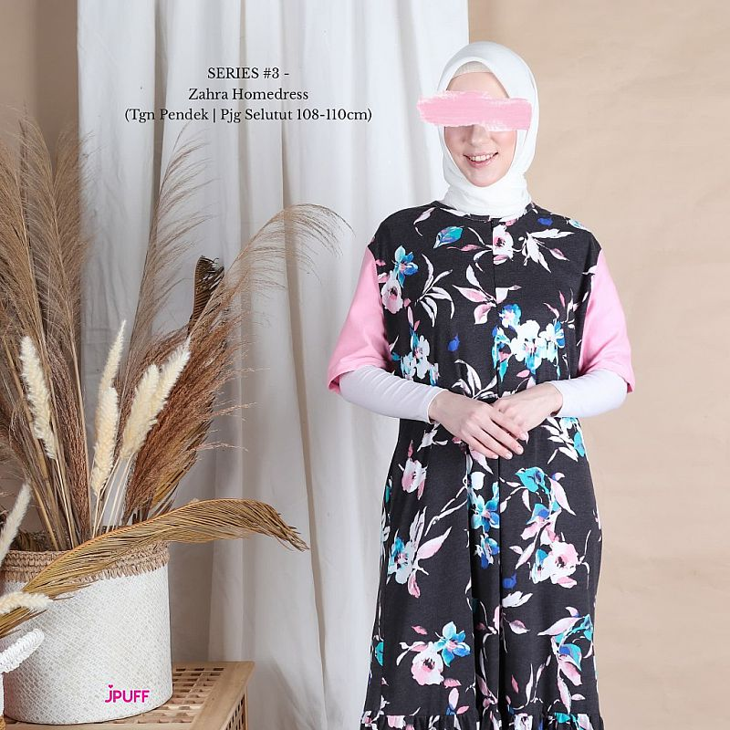 HomeyDress Series #3 - Zahra Dress (Tangan pendek, Pjg 108-110cm)